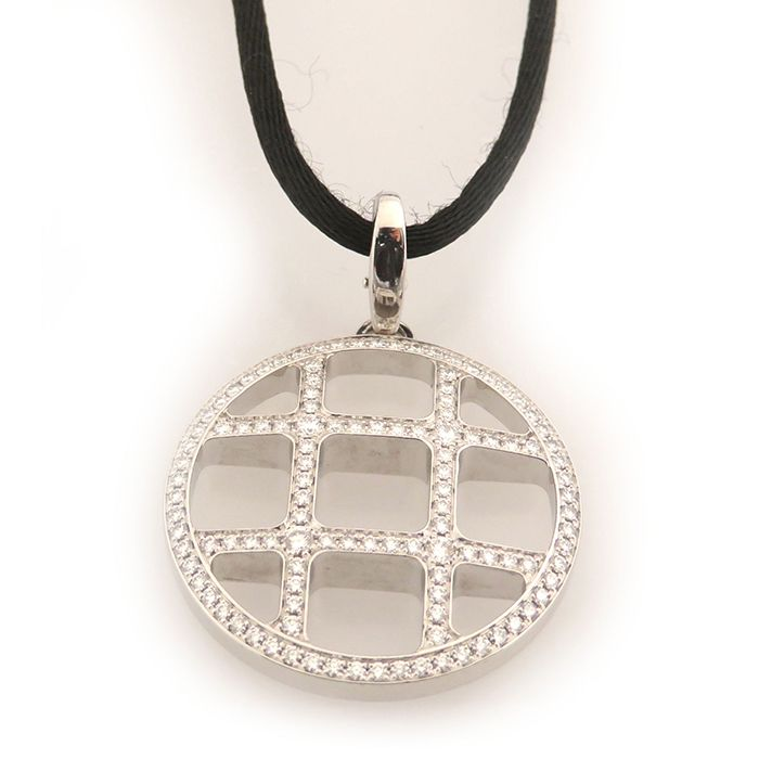 Cartier Cartier Necklace / pendant Pasha grid diamond Pendant head USED jewelry