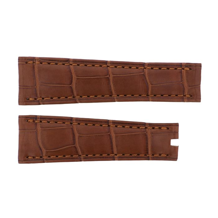 Genuine strap STRAP Rolex Brown croco New product Replacement Belt mens