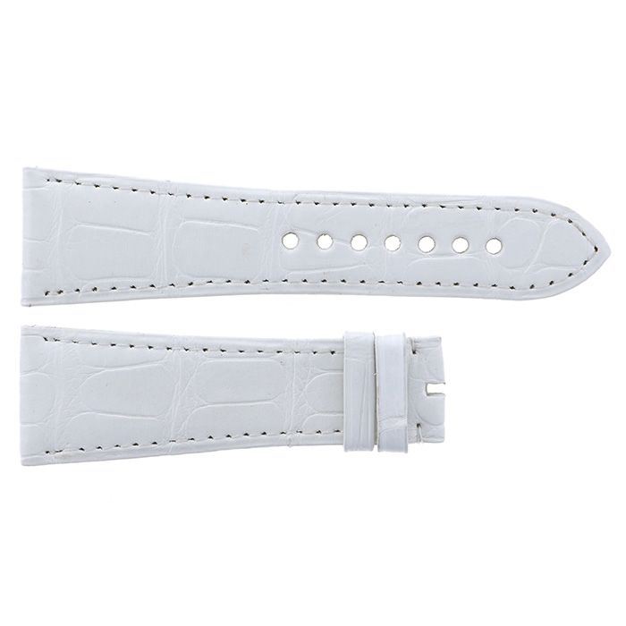 Genuine strap STRAP Cartier White croco New product Replacement Belt mens