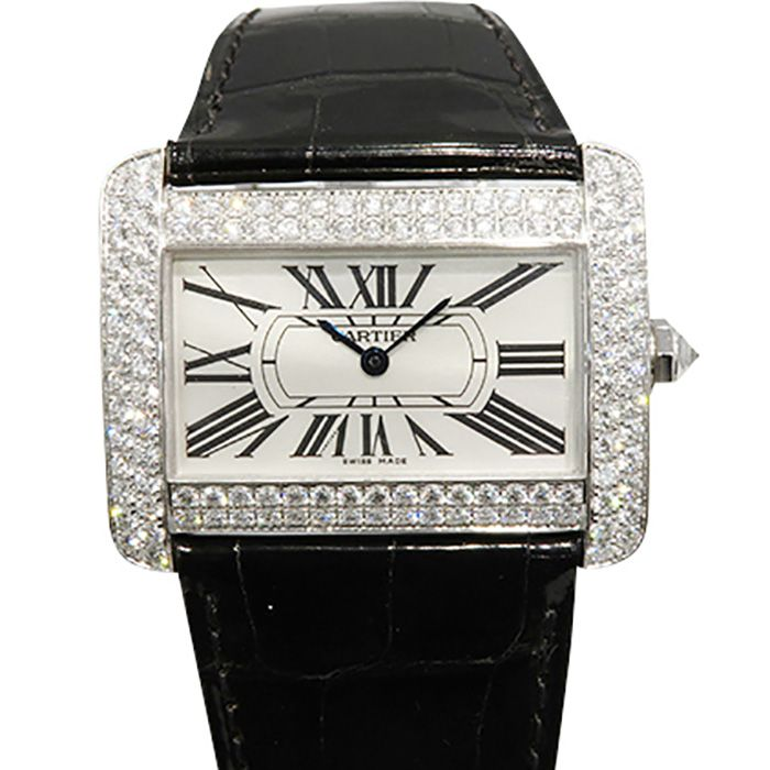 Cartier Cartier tank Divan Bezel diamond WA301370 USED Watch mens