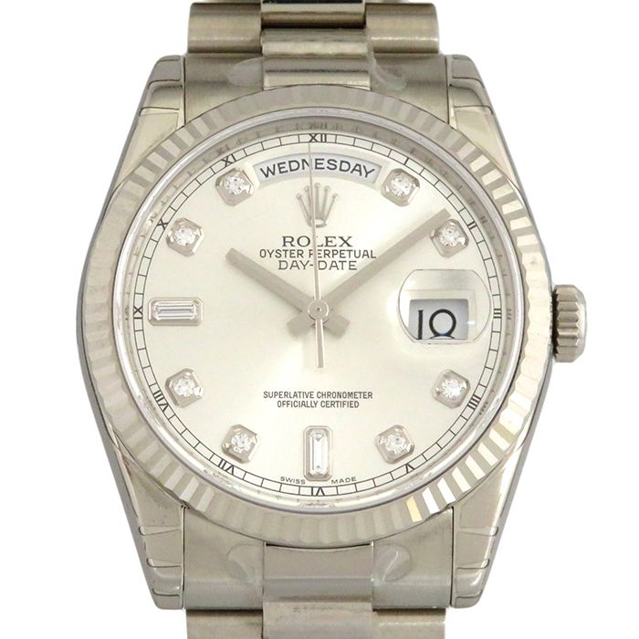 Rolex ROLEX Day-date 118239A Silver dial New product Watch mens