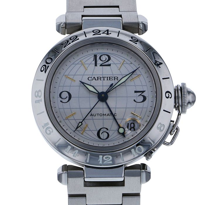 Cartier Cartier Pasha C Meridian GMT W31029M7 Silver dial USED Watch mens