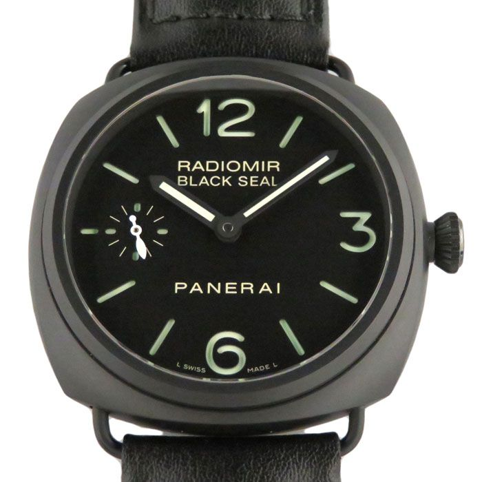 PANERAI PANERAI Radio meal Black seal Chelamica PAM00292 New product Watch mens