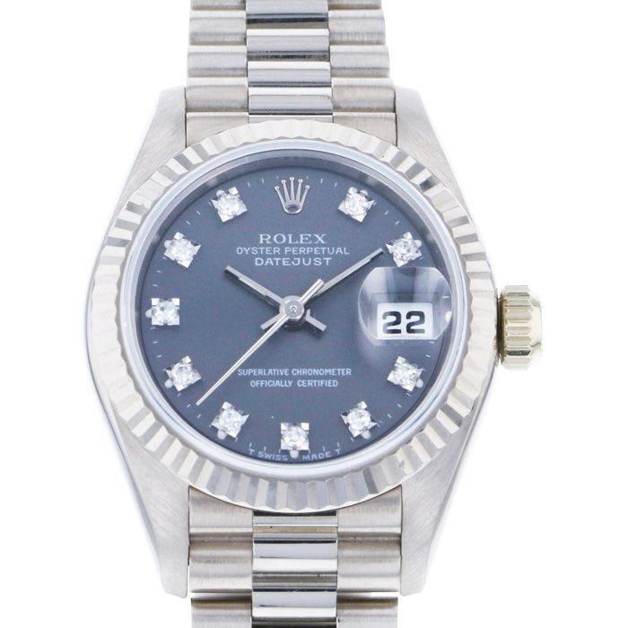 Rolex ROLEX Datejust 69179G Gray dial USED Watch Women