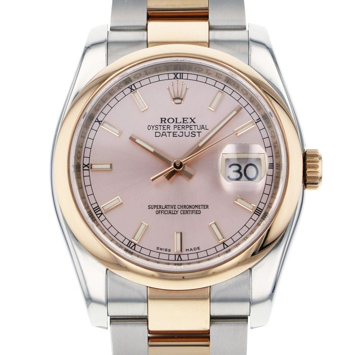Rolex ROLEX Datejust 116201 Pink dial USED Watch mens