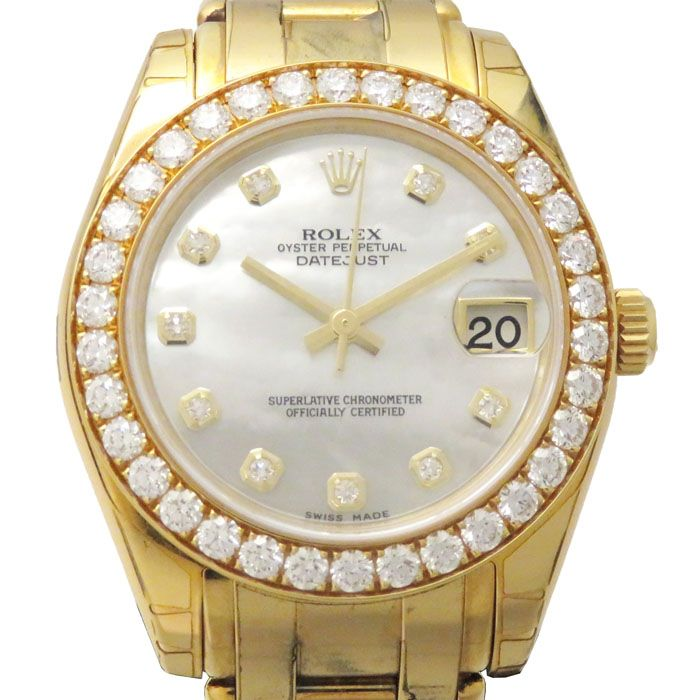 Rolex ROLEX Datejust Pearl Master 34 Bezel diamond 81298NG New product Watch Women