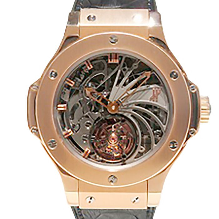 HUBLOT HUBLOT big Bang Minute repeater Tourbillon gold World Limited 10 304.PX.1180.LR USED Watch mens