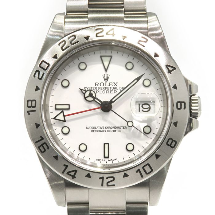 Rolex ROLEX Explorer II 16570 White dial USED Watch mens