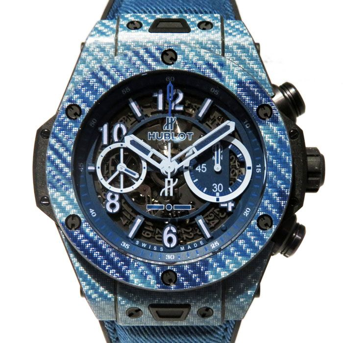 HUBLOT HUBLOT big Bang Unico Italy Independent Blue camouflage 500 books in the world 411.YL.5190.NR.ITI16 New product Watch mens
