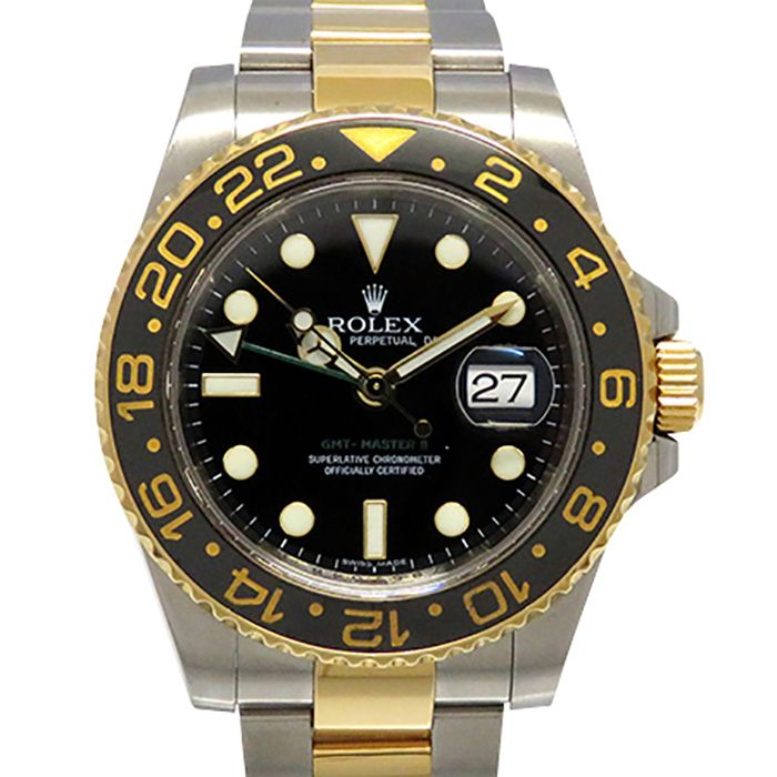 Rolex ROLEX GMT Master II 116713LN Black dial USED Watch mens