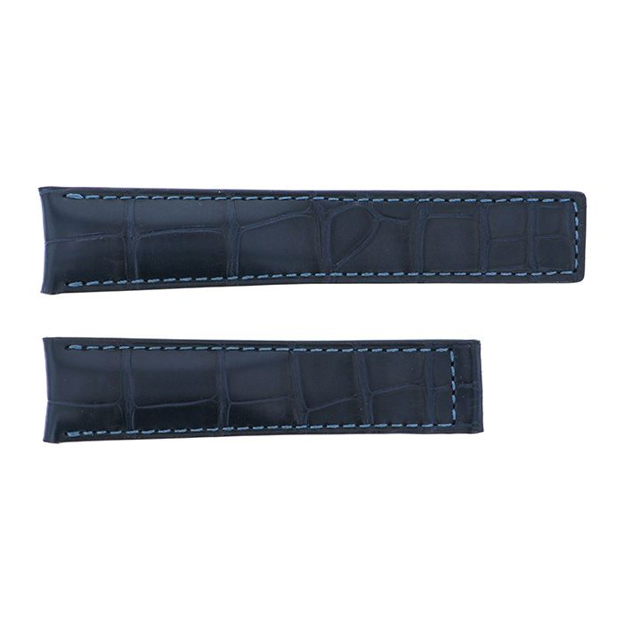 Genuine strap STRAP Tag Heuer For CAR2114 ・ CAR2115 Navy croco New product Replacement Belt mens