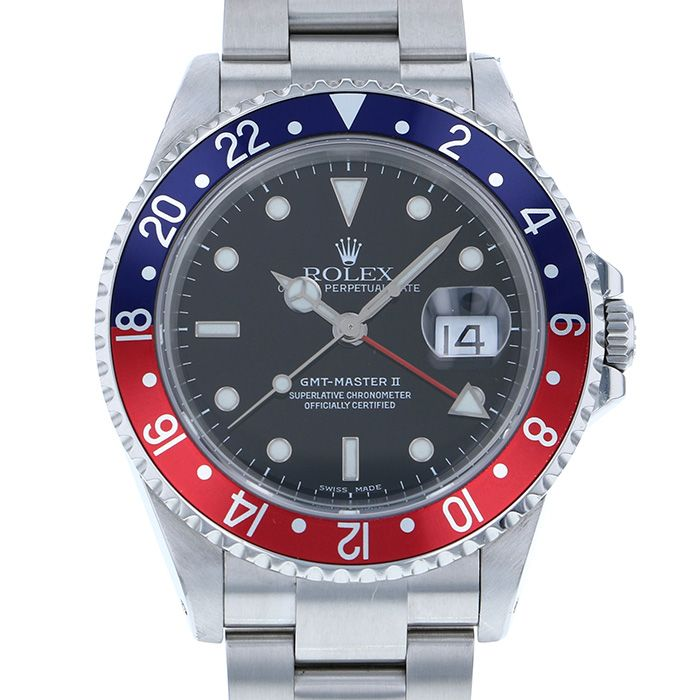 Rolex ROLEX GMT Master Blue red bezel 16710 USED Watch mens