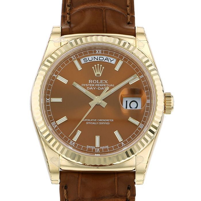 Rolex ROLEX Day-date 118138 Brown dial New product Watch mens