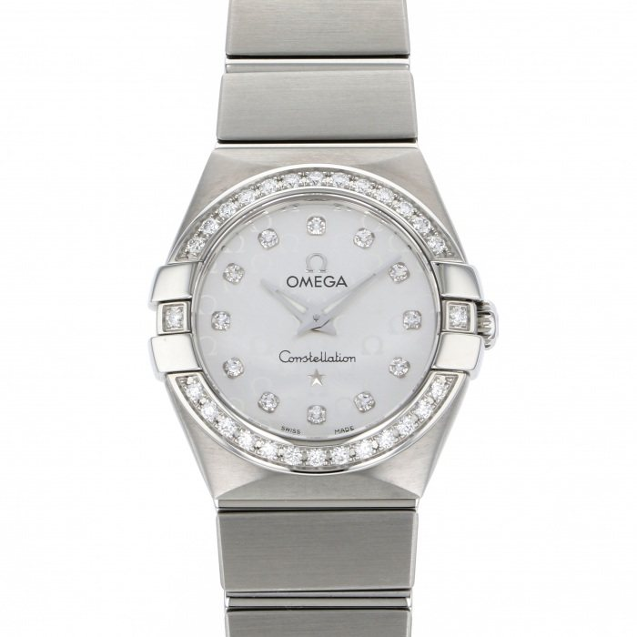 OMEGA OMEGA Constellation Brush Quartz Bezel diamond 123.15.24.60.52.001 USED Watch Women