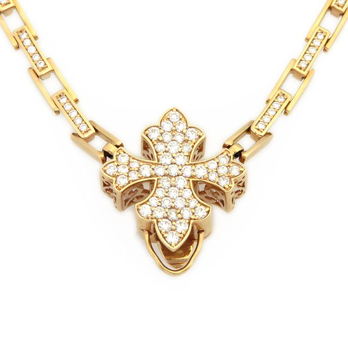 Double top DOUBLE TOP Pink gold necklace W50113.2.22 New product jewelry